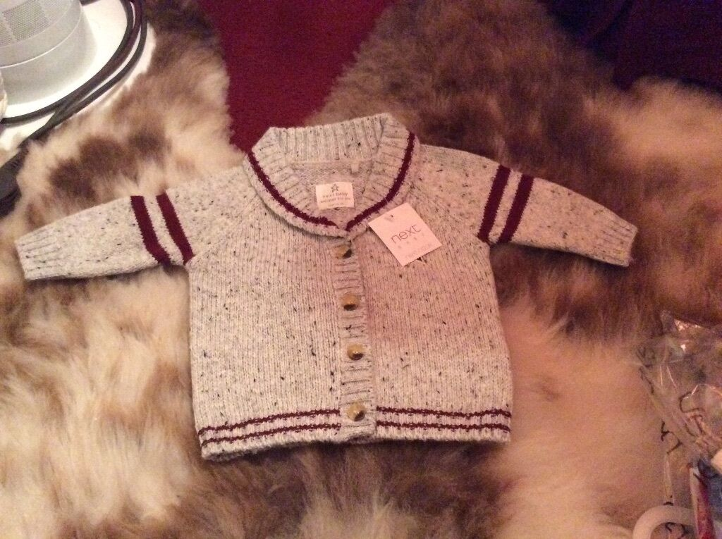 Brand New Baby Gift Ideas : Brand new baby boys cardigan aged up to months