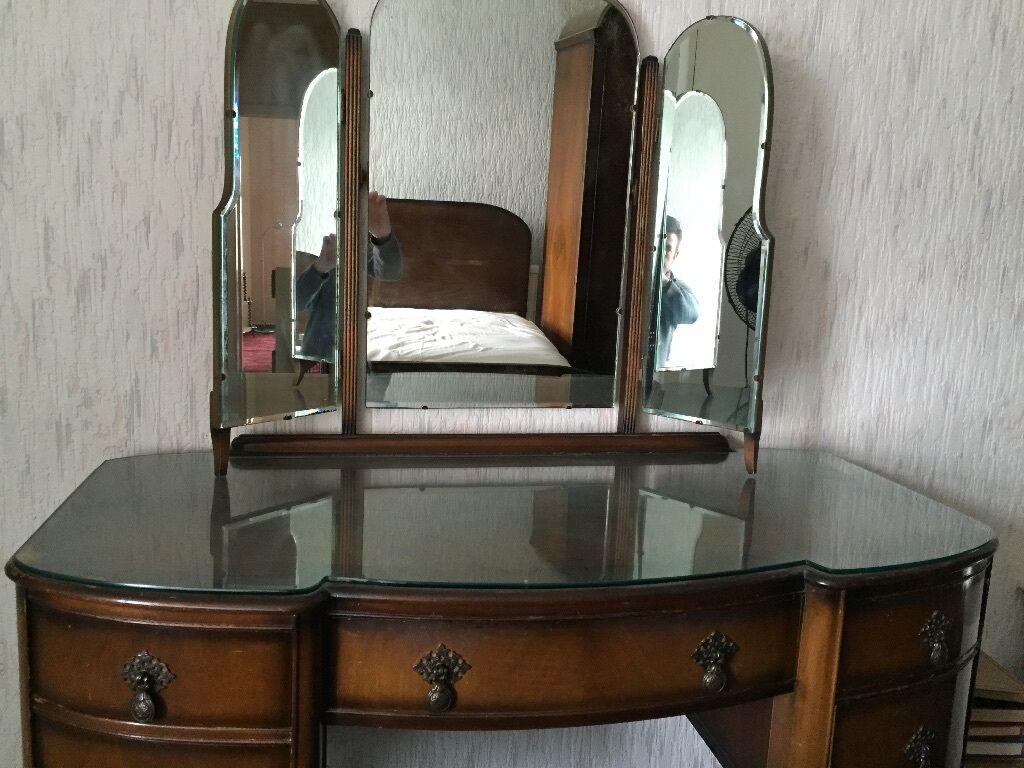 1930s Bedroom Furniture Mahogany Walnut Veneer Wardrobes