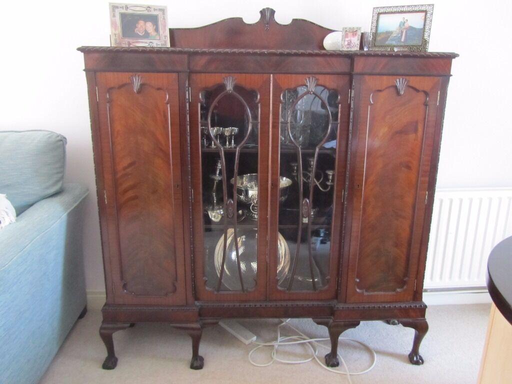 Antique display cabinet dresser bookcase united for Furniture gumtree