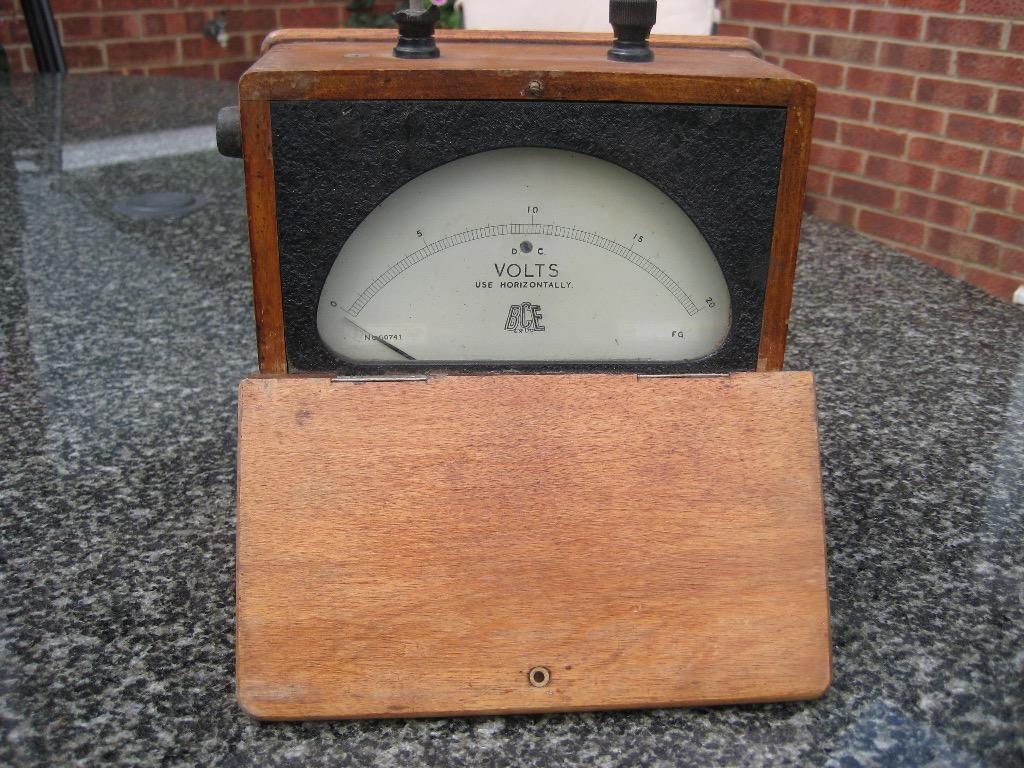 Antique Volt Meter : Antique voltmeter made by bce co ltd united kingdom
