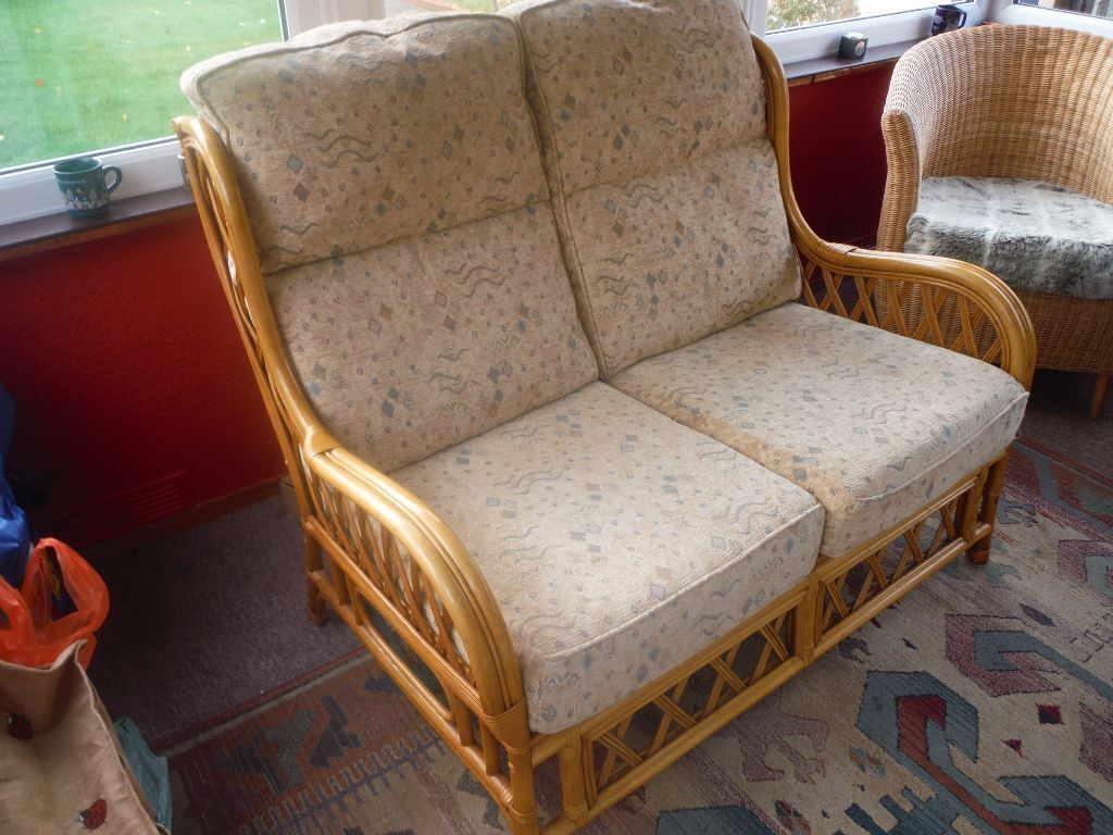 Conservatory cane 2 seater sofa conservatory cane 2 seater sofa in very good condition only - Garden furniture kings lynn ...