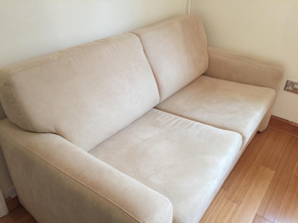 Cream sofa bed united kingdom gumtree for Cream divan bed