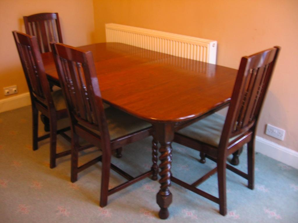 wind out oak dining table and chairs united kingdom gumtree