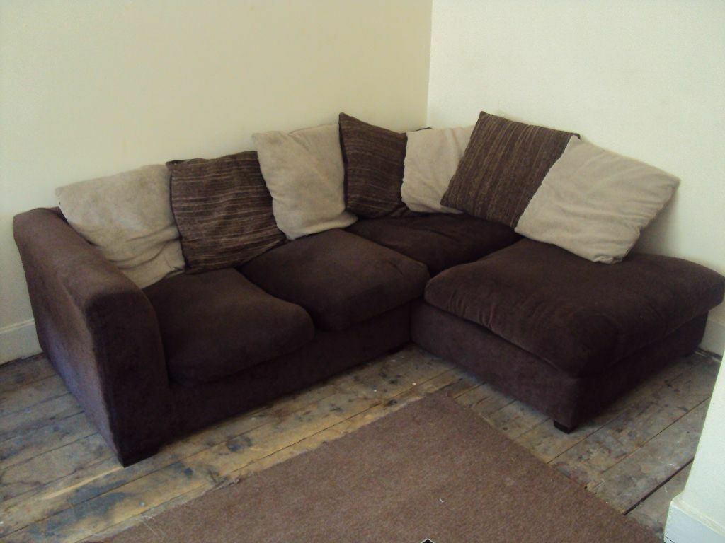 Brown corner sofa for sale united kingdom gumtree for Tan couches for sale