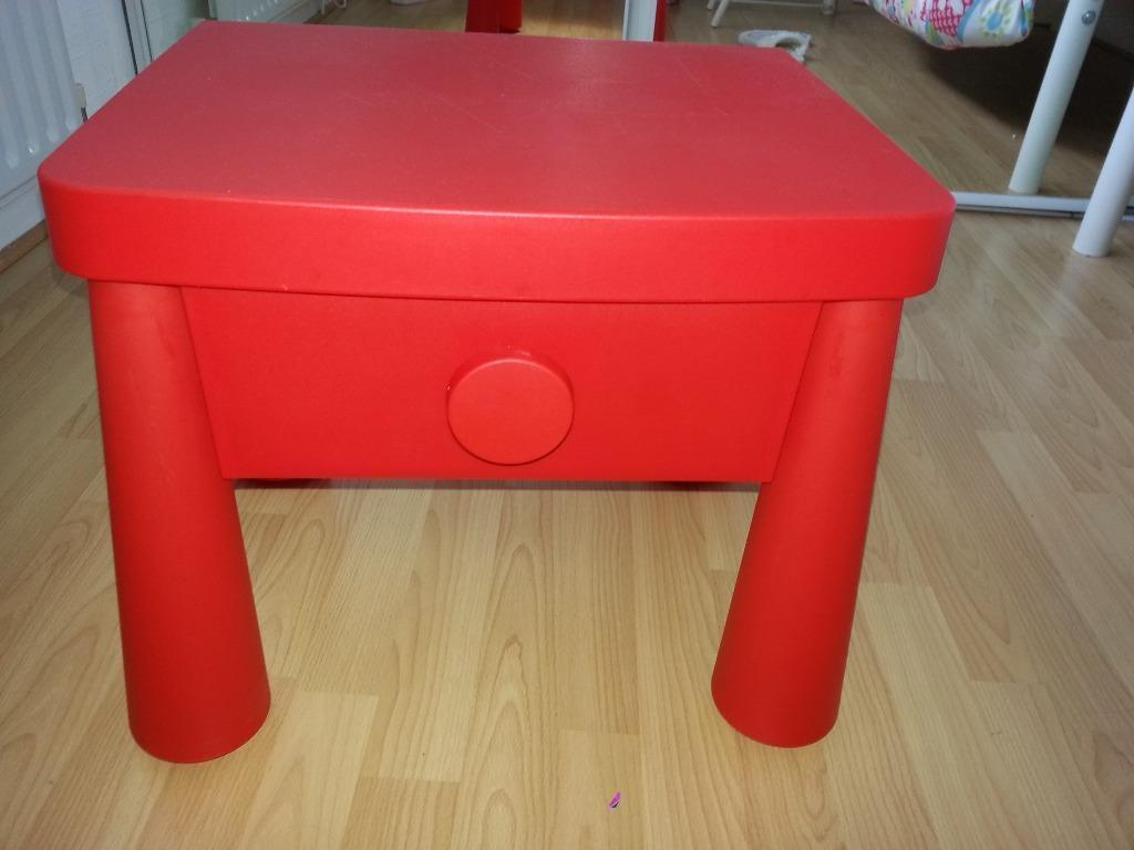 Bedsides Tables Ikea Ikea Red Bedside Table With