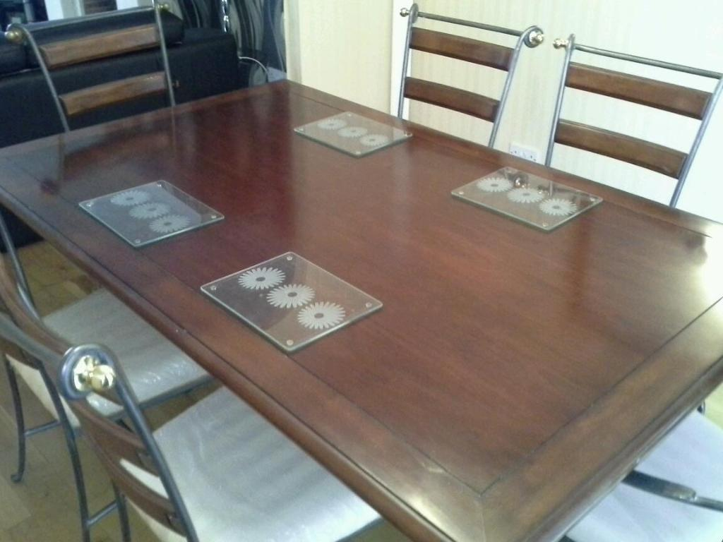 dinning table and 6 chair also includes one wall mirror for sale