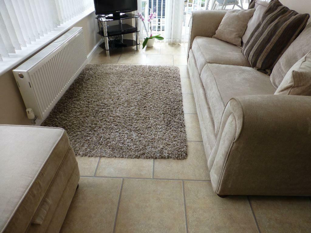 Mastercraft super shaggy woven rug 120cm x 170cm light for Affordable furniture uk newton aycliffe