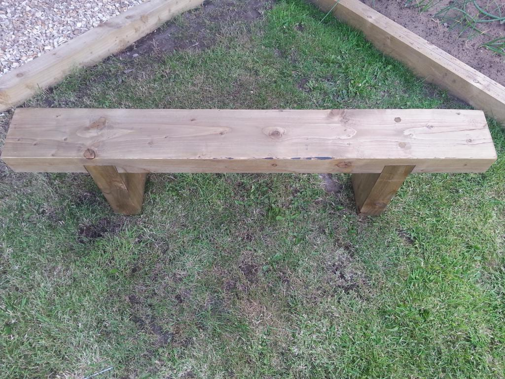Rustic railway sleeper garden seat united kingdom gumtree for P a furniture kirkby