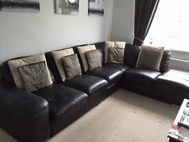 Immaculate sofa set!! Three seater , two seater , arm chair and foot