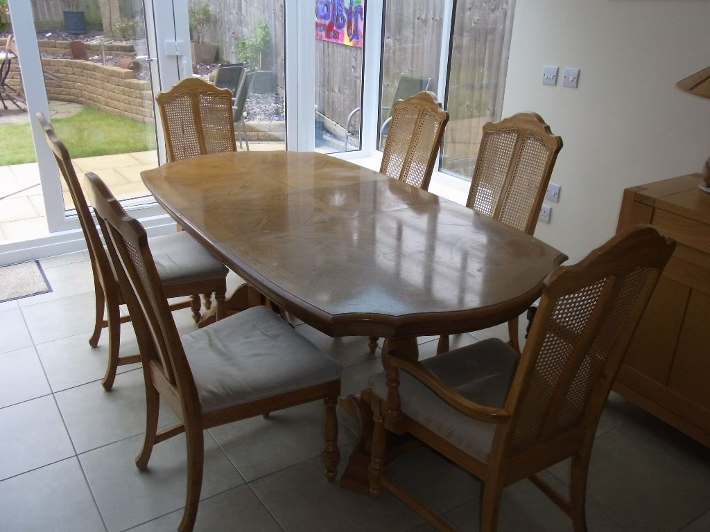 dining table and chairs pecan wood buy sale and trade ads