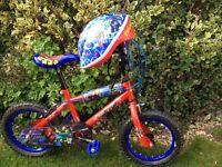 "BOYS BIKE Ultimate Spiderman Boys Bike - 14"""