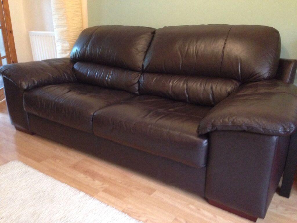 Dark Brown Leather Sofas 2 3 Seaters United Kingdom