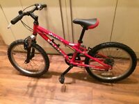 Kids (6-8 yrs) red Dawes Redtail bike with light aluminium frame, 6 gears, in good working order.