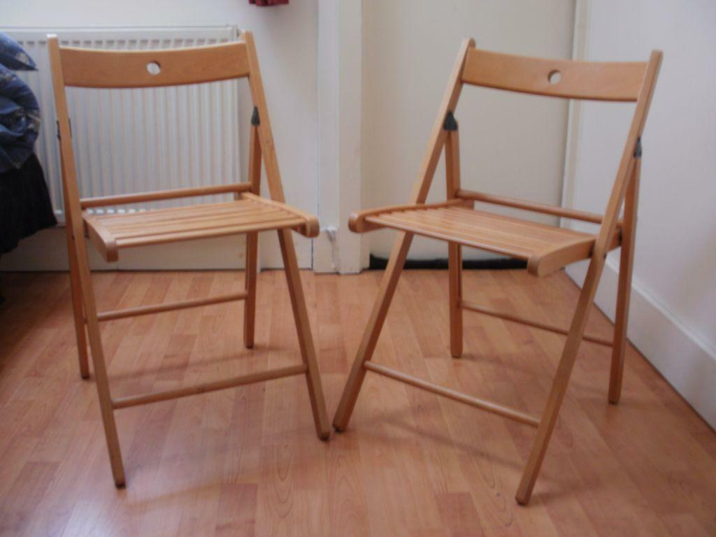 Two IKEA TERJE Folding Chair United Kingdom Gumtree