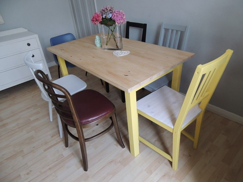 Vintage industrial style shabby chic dining table with 6  : 86 from gumtree.com size 1024 x 768 jpeg 89kB