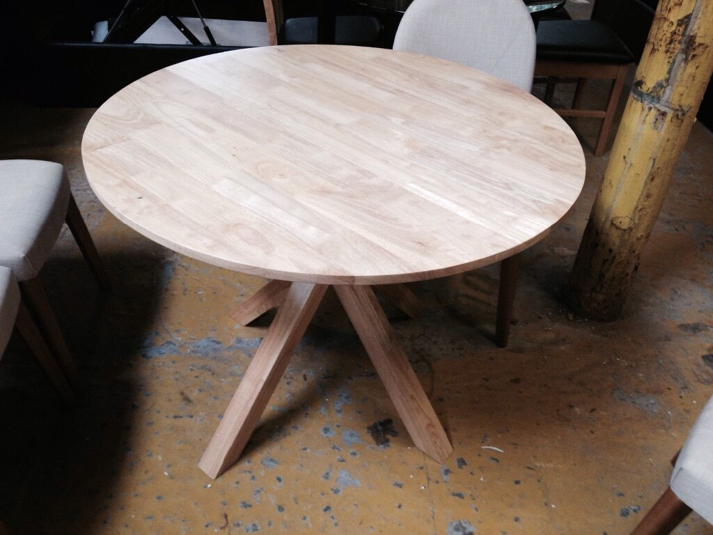 ROUND NATURAL WOOD DINING TABLE United Kingdom Gumtree : 86 from gumtree.com size 1024 x 768 jpeg 90kB