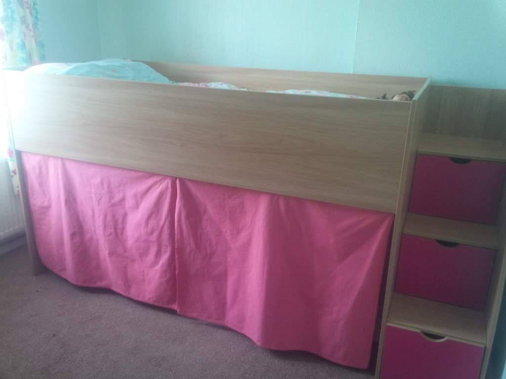 Midi sleeper single bed with mattress united kingdom for Gumtree bunk beds
