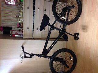 Full black bmx bike with mini sprocket read description for all information