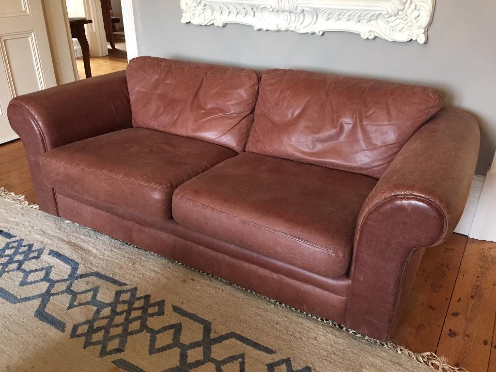 Soft Brown Leather Three Seater Sofa United Kingdom Gumtree