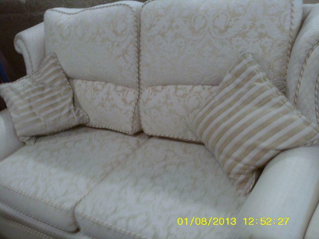 stunning elegant cream and gold two seater sofa and x2