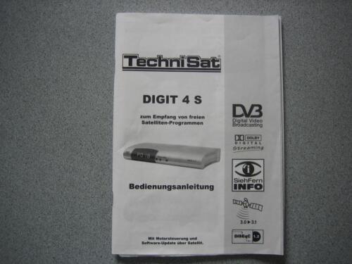 bedienungsanleitung zu technisat digit 4 s in nordrhein westfalen j lich tv receiver. Black Bedroom Furniture Sets. Home Design Ideas