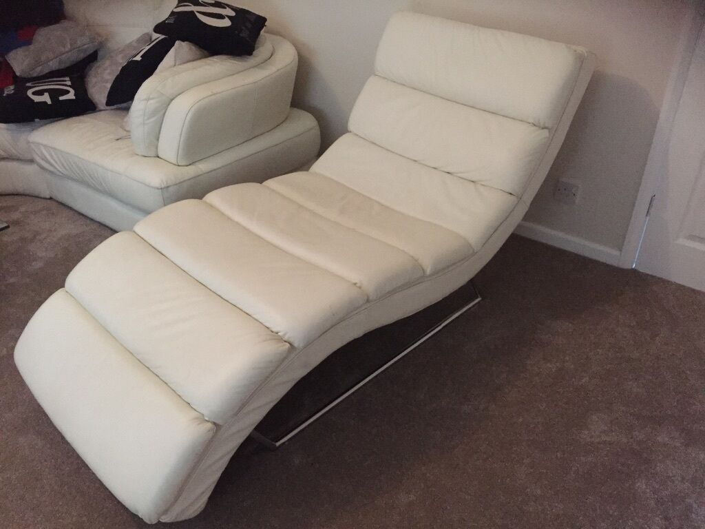 White leather chaise longue buy sale and trade ads for Chaise longues for sale uk