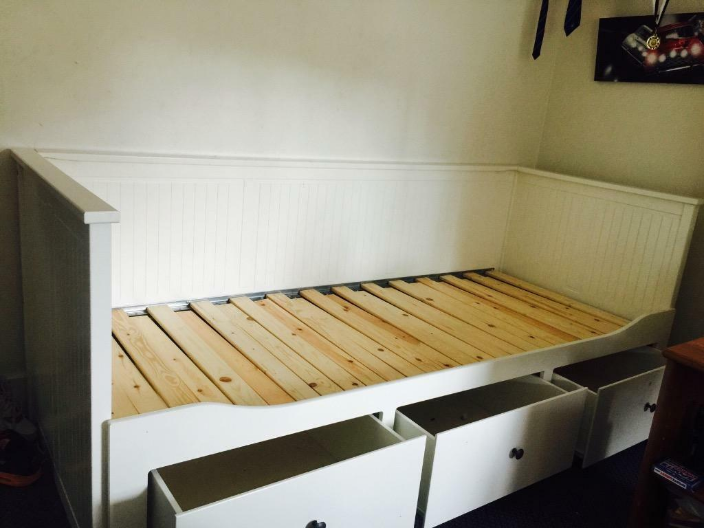 Ikea Day Bed Replacement Slats ~  Replacement Mattress can be purchased from IKEA (£80) Bed frame