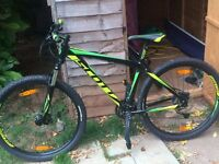 'Scott' Adult Mountain bike with 27 gears for sale. Only used twice. Excellent condition