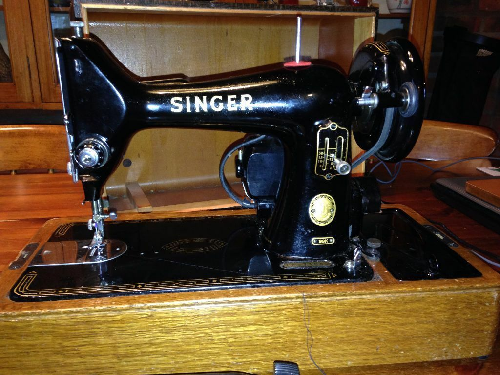 black and gold singer sewing machine