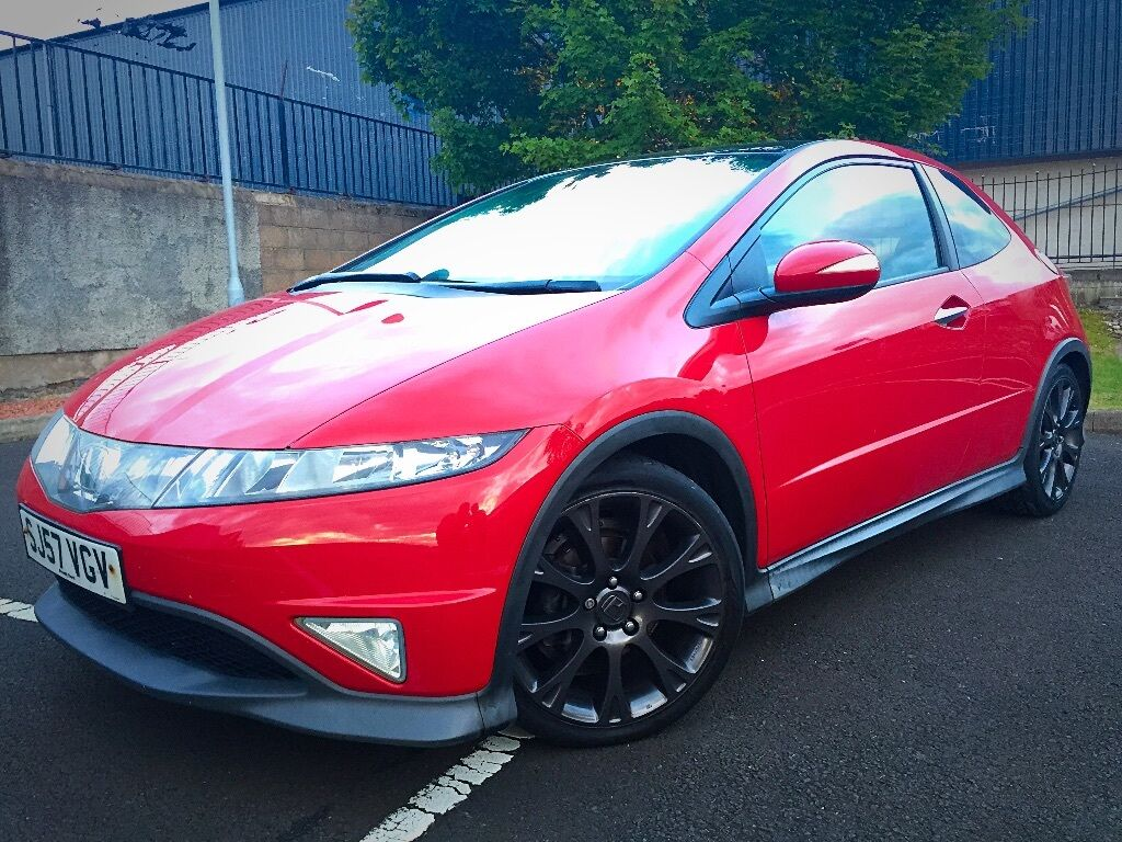 red honda civic type s gt 1 8 vtec 2007 3 doors 18 quot alloy wheels thinkcar