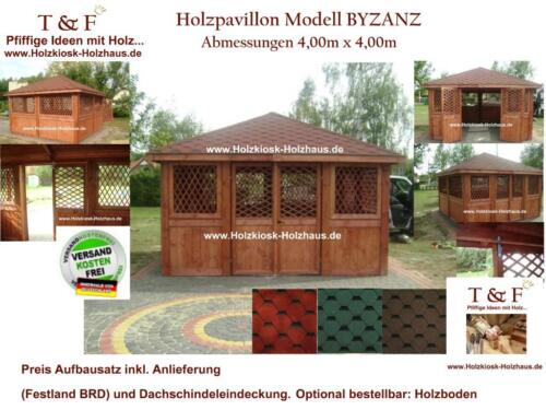 pavillon holzpavillon sitzgruppe berdacht j gerh tte 4mx4m in rostock gross klein ebay. Black Bedroom Furniture Sets. Home Design Ideas