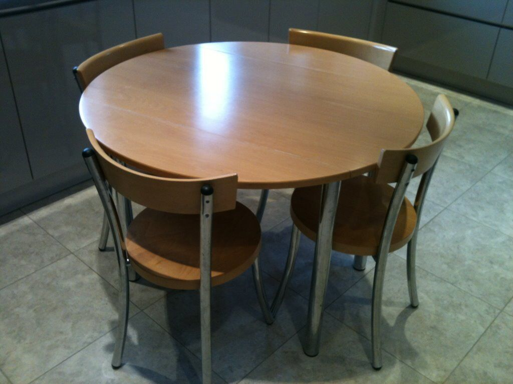 John lewis wooden kitchen table and 4 chairs extendable for Kitchen table and chairs