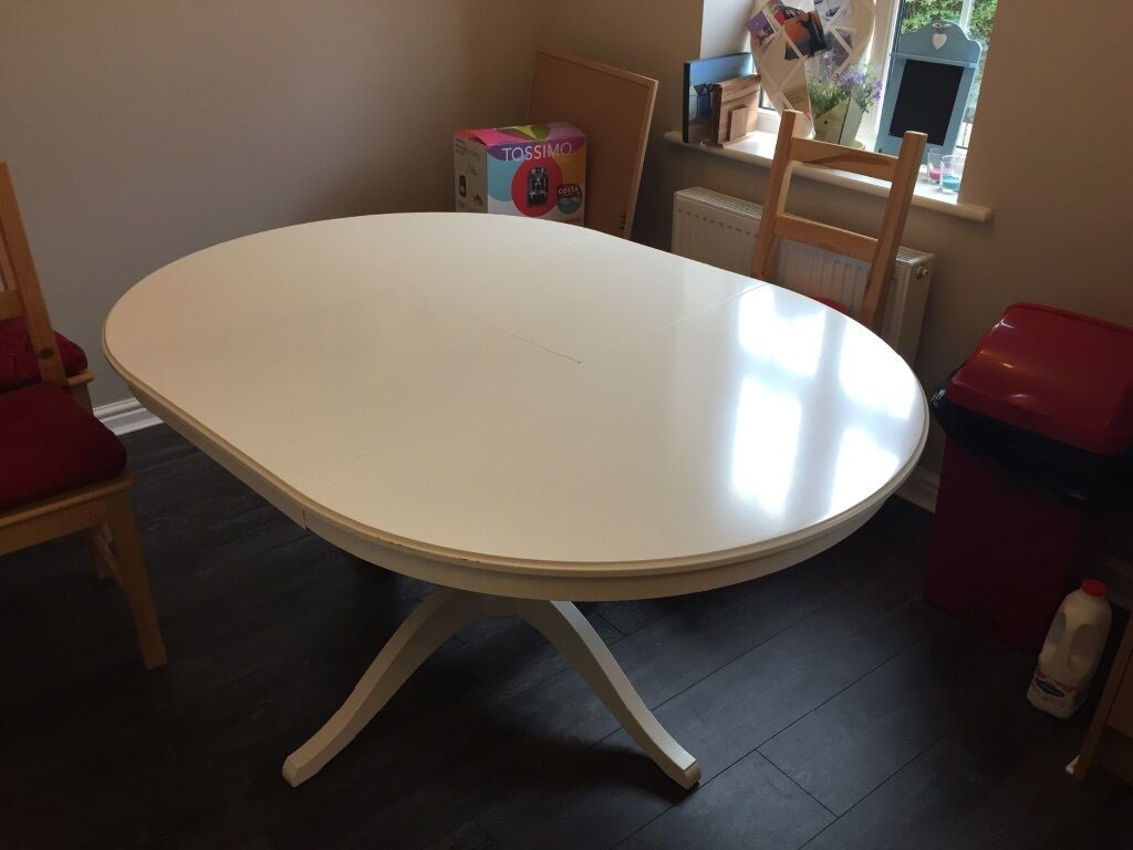 Ikea ingatorp white extendable buy sale and trade ads - Ikea white extendable dining table ...