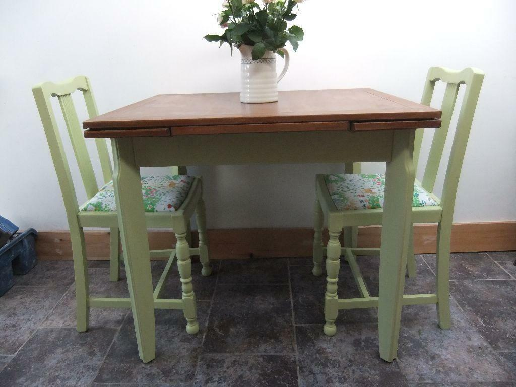 upcycled table and 2 chairs in pale lime United Kingdom  : 86 from gumtree.com size 1024 x 768 jpeg 83kB