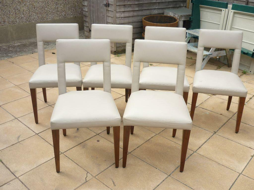 6x soild leather dining room chairs light grey united for 6 x dining room chairs