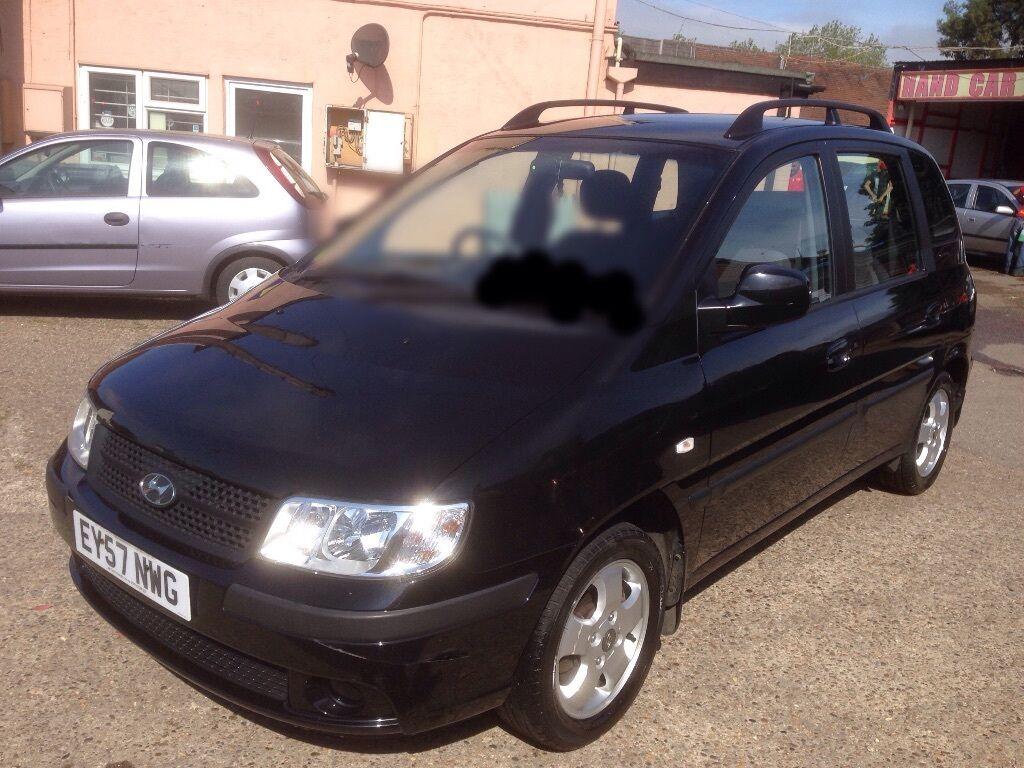 2007 Hyundai matrix 1.6 gsi 77000 miles 57 reg, black,air con, electric  windows, alloys,new tyres £1,000 | Private Seller