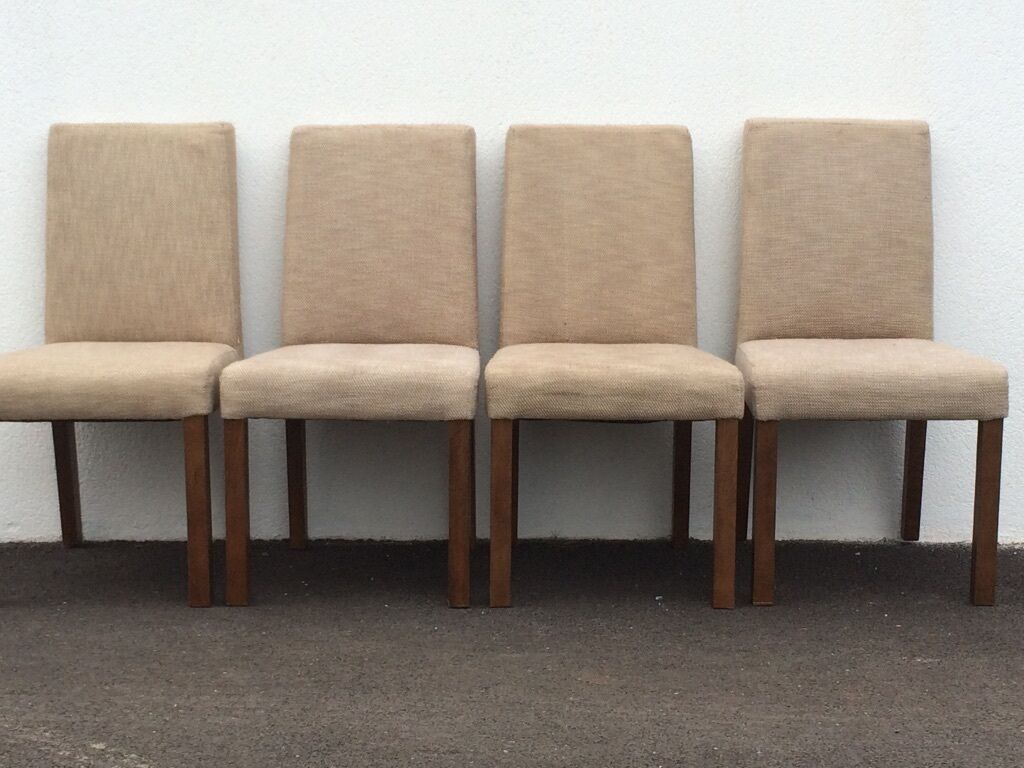 4 Habitat Dining Chairs Grey and brown woven fabric  : 86 from www.gumtree.com size 1024 x 768 jpeg 98kB