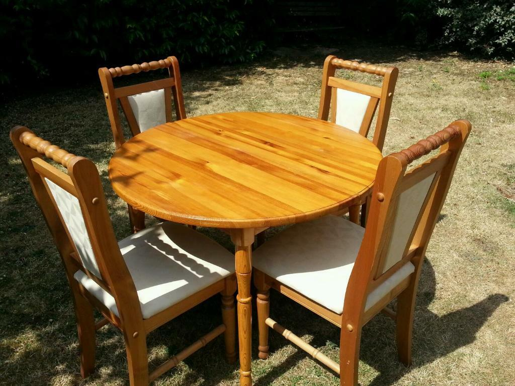 Pine Extendable Table And 4 Chairs United Kingdom Gumtree