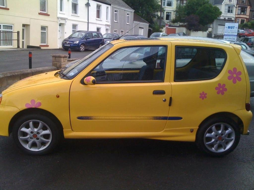 Fiat Seicento Sporting In Yellow Abrath Styling 1998
