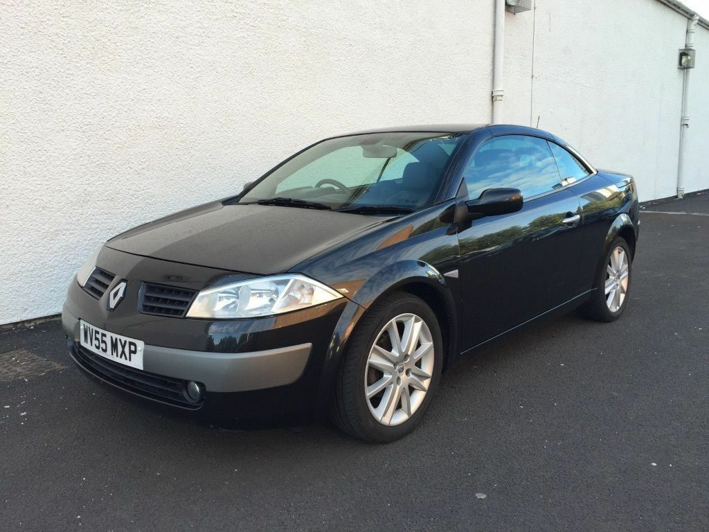 2005 55 renault megane dynamique 2 0 convertible with black leather interior thinkcar. Black Bedroom Furniture Sets. Home Design Ideas