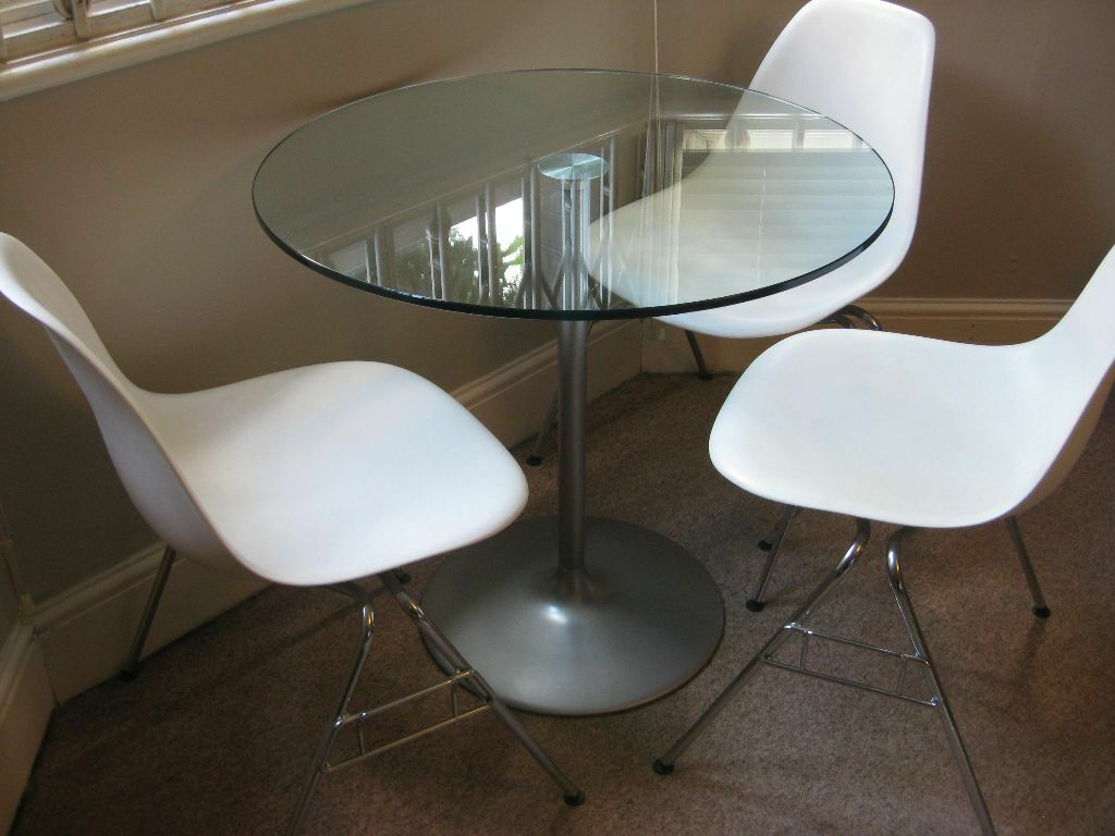 Quick Sale Needed Original Walter Knoll Dining Table 4 Person With Clear Glass Top United