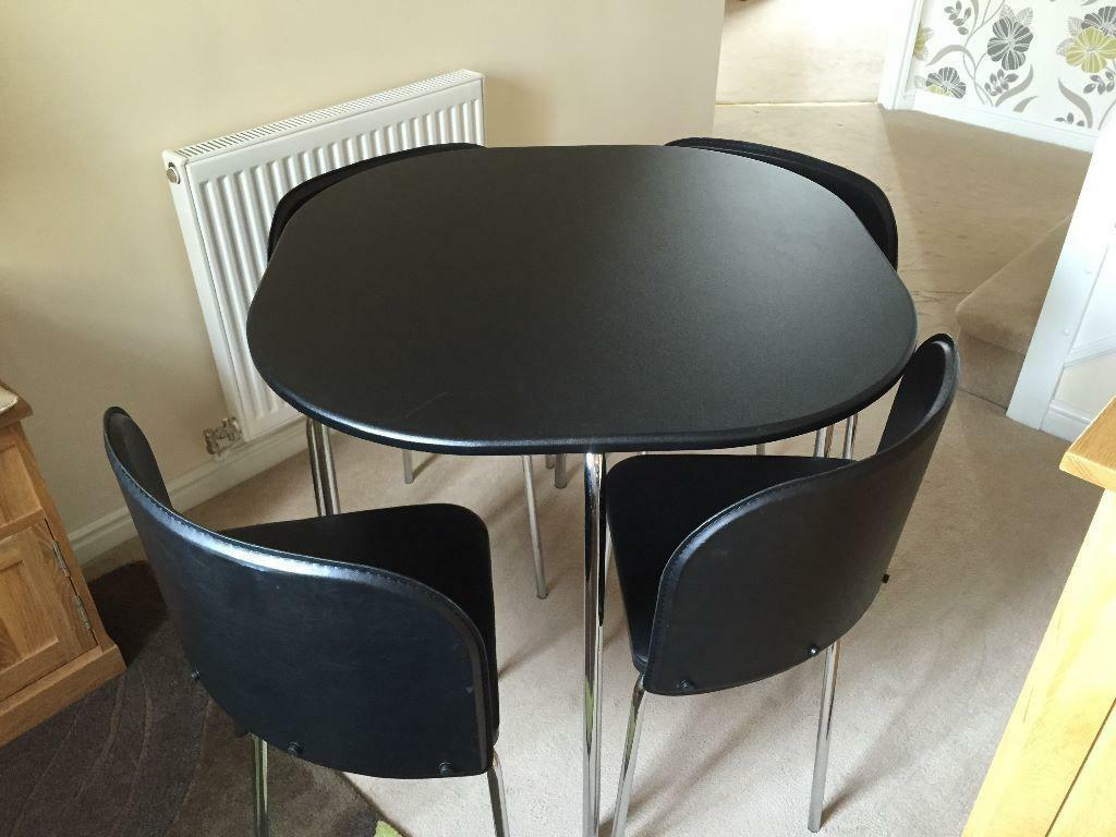black dining table and 4 chairs united kingdom gumtree