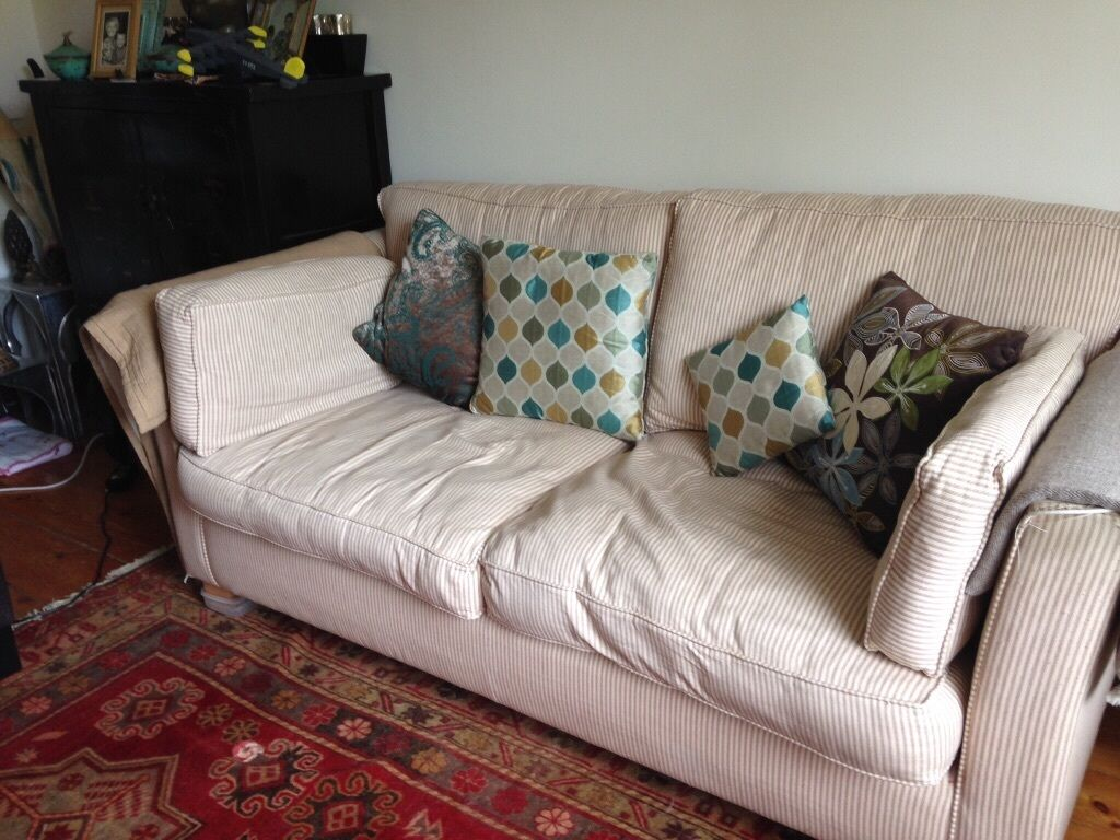 Cream loose cover 2 seater sofa buy sale and trade ads for Comfy couches for sale