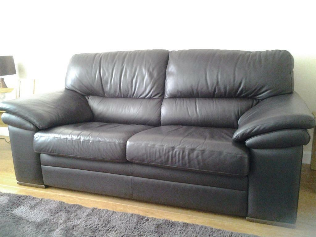 Two Leather Sofas Great Condition Now Sold United