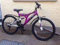"Girls 28 speed 24"" bicycle"
