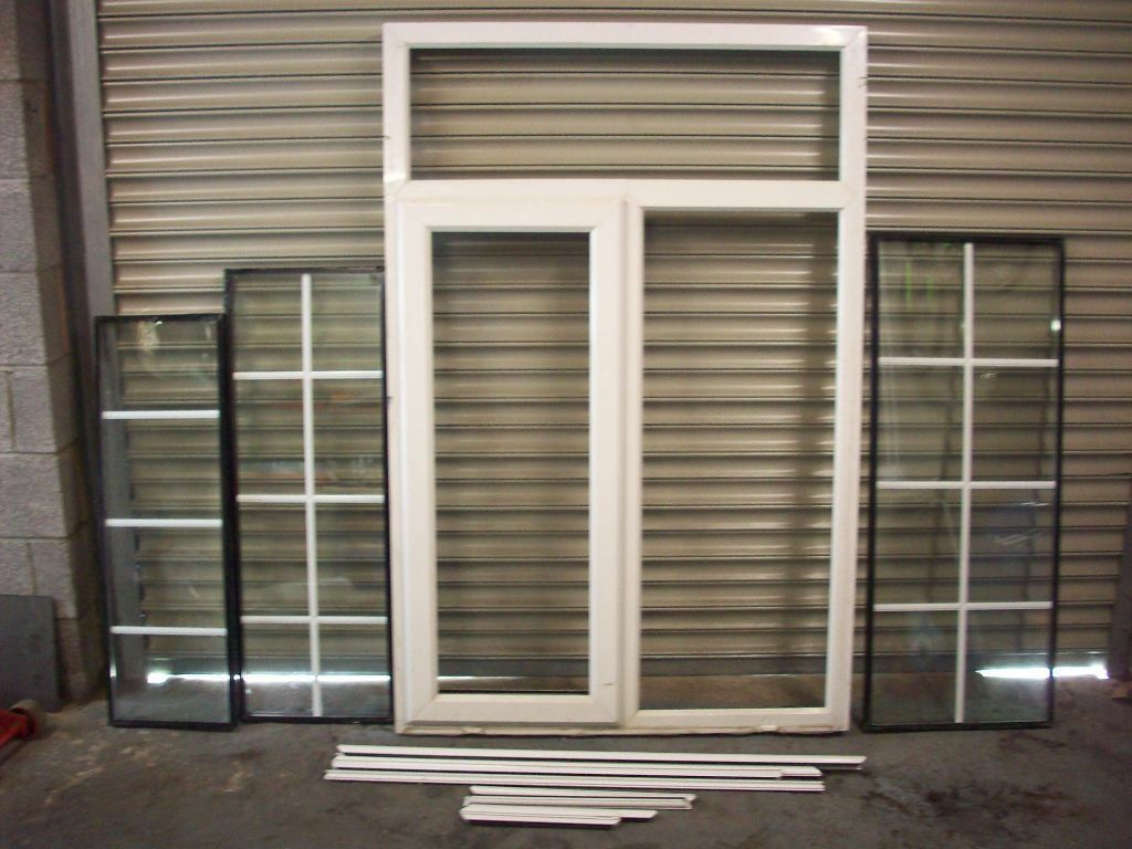 Upvc window ideal for garage or shed build 112cm x 170cm for Upvc garage doors