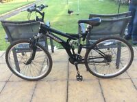 Nearly New Bicycle used twice. Black 26 inch in excellent condition.