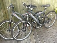 Two Halfords mountain bikes in great condition £50 per bike or £90 for both.