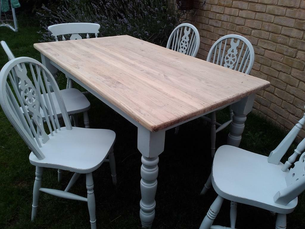 vintage pine table and 6 chairs united kingdom gumtree