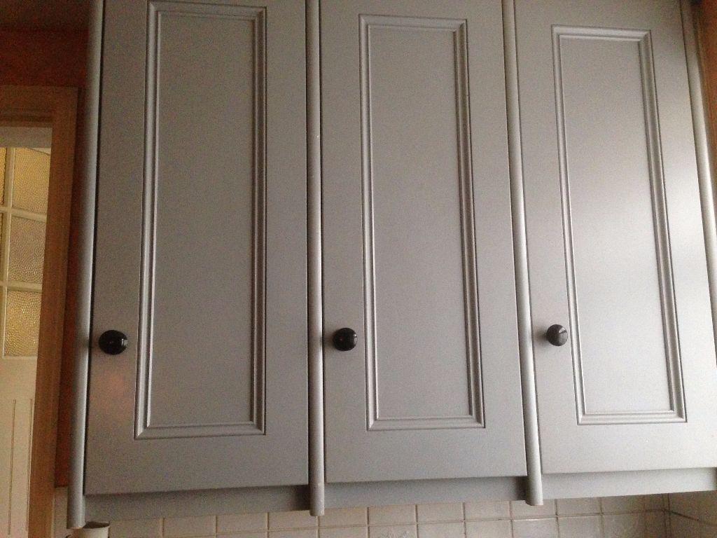 Matt grey kitchen cabinets